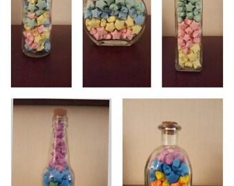 Origami Lucky Star Glass Jar
