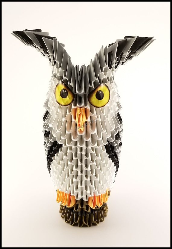 3 D Origami Owl · Extract from 3D Origami Fun! by Stephanie Martyn ... | 821x570