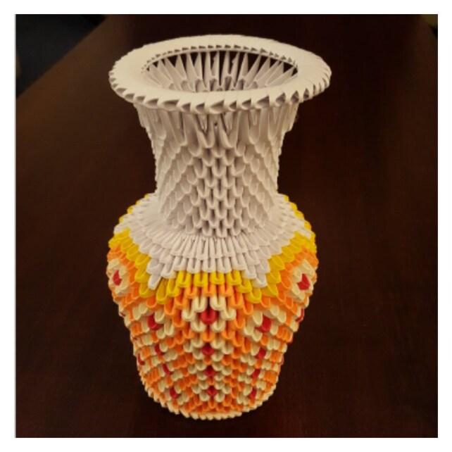 3d Origami Flower Vase Etsy