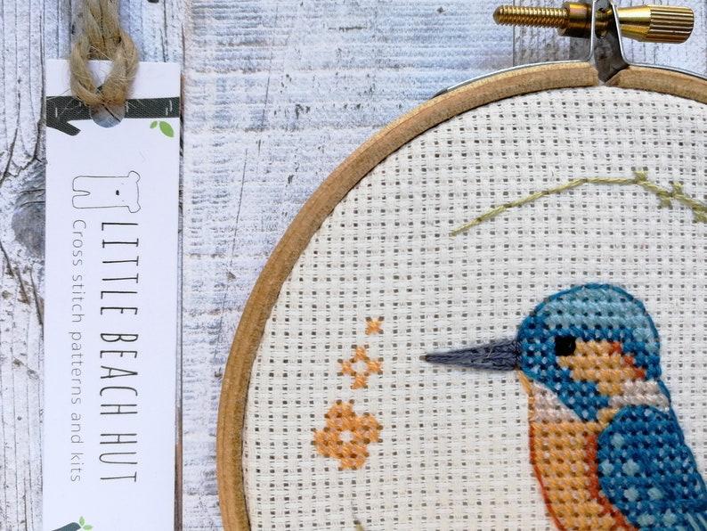Little kingfisher cross stitch pattern PDF pattern instant image 0