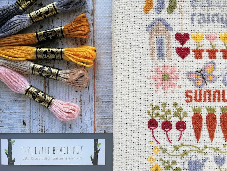 Cross Stitch Pattern  allotment sign embroidery patterns image 0