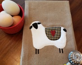 Primitive Country Sheep Zigzag Applique Embroidery design download for embroidery machine,