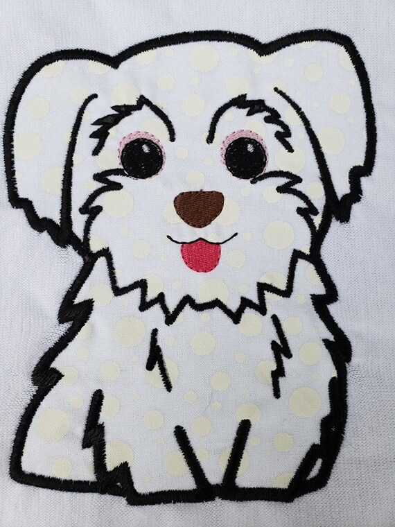 MALTESE  embroidery machine patterns designs