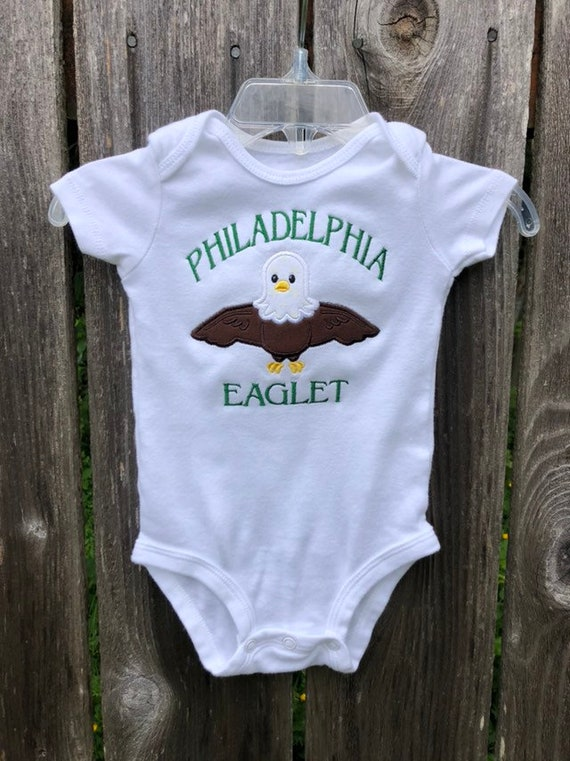 new arrival d960f cdc54 Philadelphia Eagles baby shower gift, outfit or dress, romper, one piece  creeper, baby clothes, harem pants, for baby boy or girl