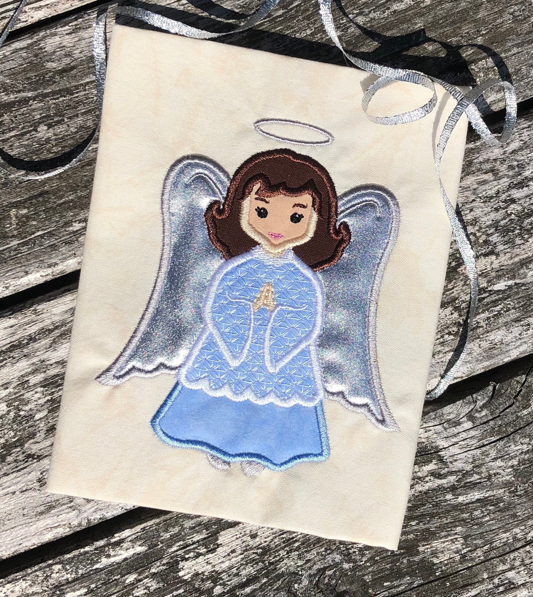 Angel Applique Embroidery Design Christmas Holiday Appliqué Etsy