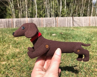 ITH Dachshund  Plushy embroidery design file for use with an embroidery machine
