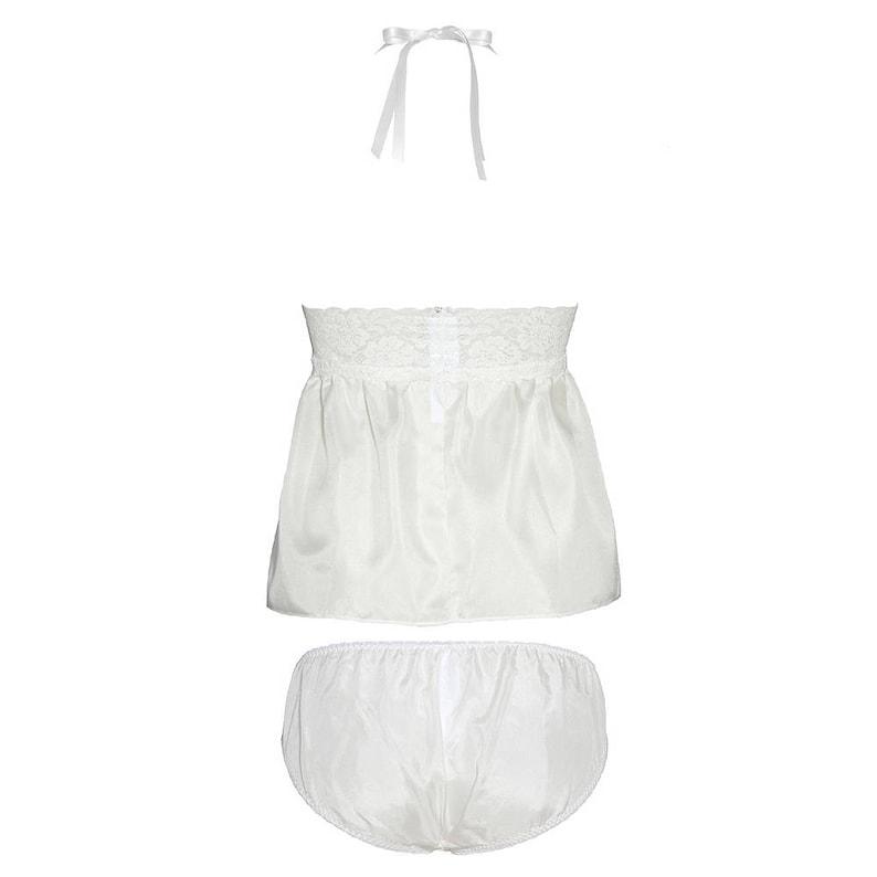 silk top /& panties in white Lullaby