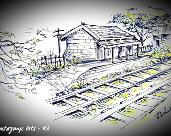 Train stations of old countryside India