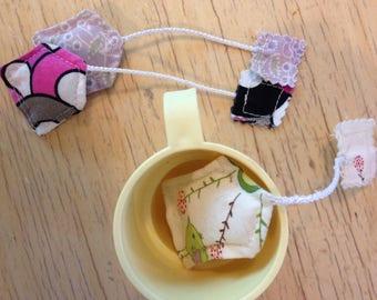 Tea Bags for Pretend Play