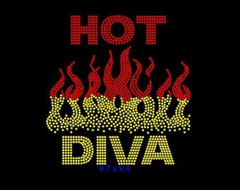 Hot Diva Rhinestone Tshirt
