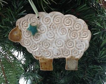 Ornament Christmas Holiday Sheep Lamb Peace