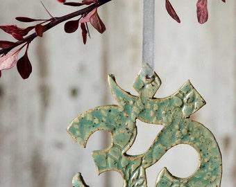 Yoga Om Ornament holiday christmas namaste tree wonter yogi