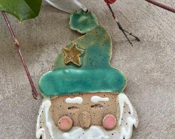Christmas-Holiday Ornament:  Santa Face