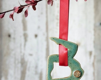 Aerial yoga christmas ornament aerial hammocks silks holiday ribbon yogi aerialist