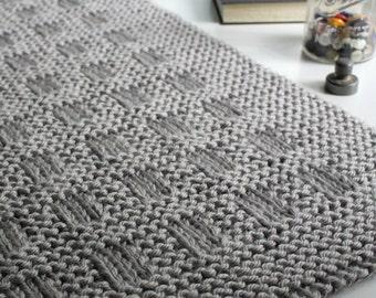 Blanket KNITTING PATTERN / Westport Blanket / Throw / Afghan / Knit / Gift / Christmas / Wedding / Baby / PDF Instant Download