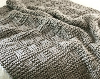 eacfa15164 KNITTING PATTERN   Westport Blanket   Throw   Afghan   Knit   Gift    Christmas   Wedding   Baby   Quick   Easy   PDF Instant Download