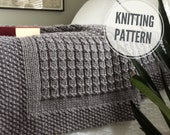 KNITTING PATTERN Over the Rooftops Blanket Throw Afghan Knit Gift Wedding Baby Quick Easy PDF Instant Download