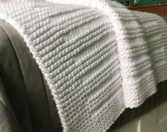 Blanket KNITTING PATTERN / Where the Sidewalk Ends / Throw / Afghan / Knit / Gift / Wedding / Baby / Quick / Easy / PDF Instant Download