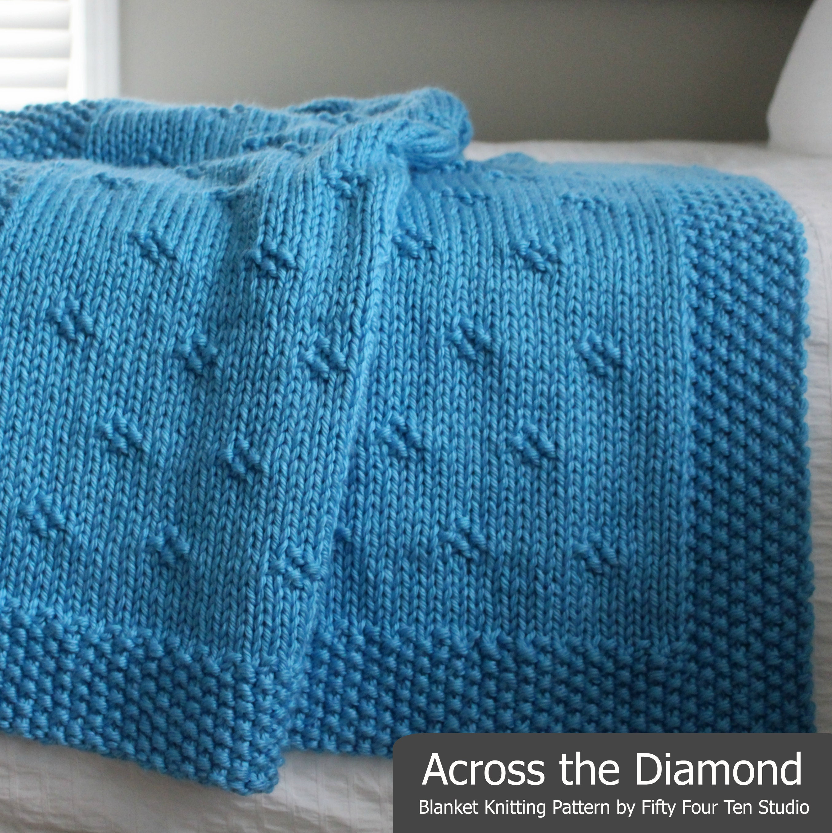 Blanket KNITTING PATTERN / Across the Diamond / Throw / Afghan