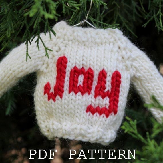Christmas Knitting Pattern Ornament Mini Sweater Quick Etsy