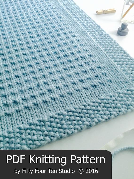Blanket KNITTING PATTERN / Third Street Blanket / Throw / Afghan ...