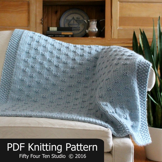 Blanket Knitting Pattern Belleview Blanket Throw Afghan Etsy