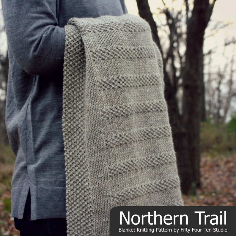 f08c7498c5203 Blanket KNITTING PATTERN   Northern Trail   Baby   Throw