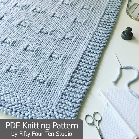 Blanket Knitting Pattern Graph Paper Throw Afghan Knit Etsy