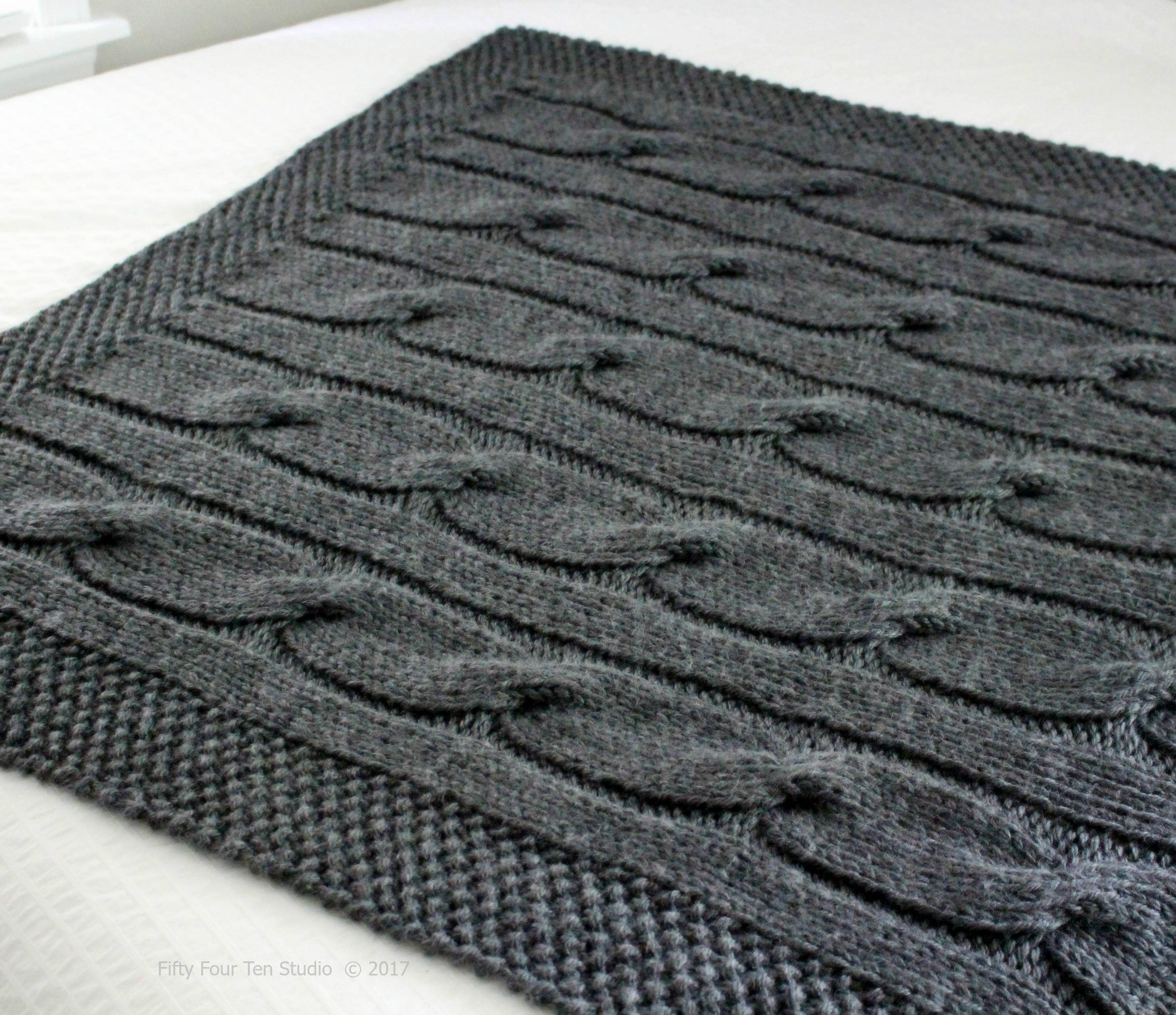 Blanket KNITTING PATTERN / North of the River / Cable / Throw ...