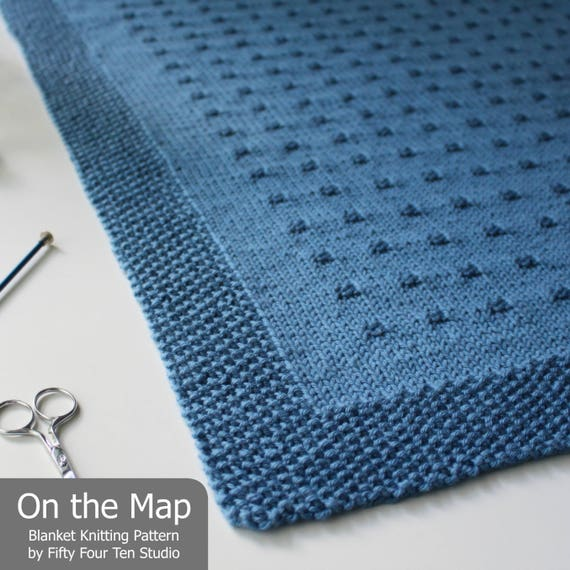 Knitting Pattern Blanket On The Map Baby Throw Etsy
