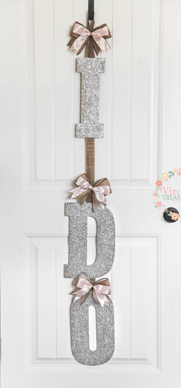 I Do Bridal Shower Door Decoration I Do Door Hanger Blush Pink Etsy