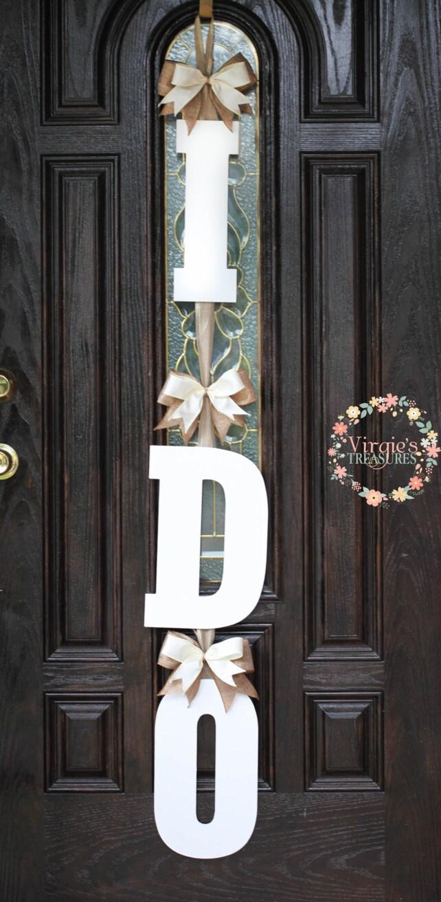 I Do Bridal Shower Door Decoration I Do Wooden Door Etsy