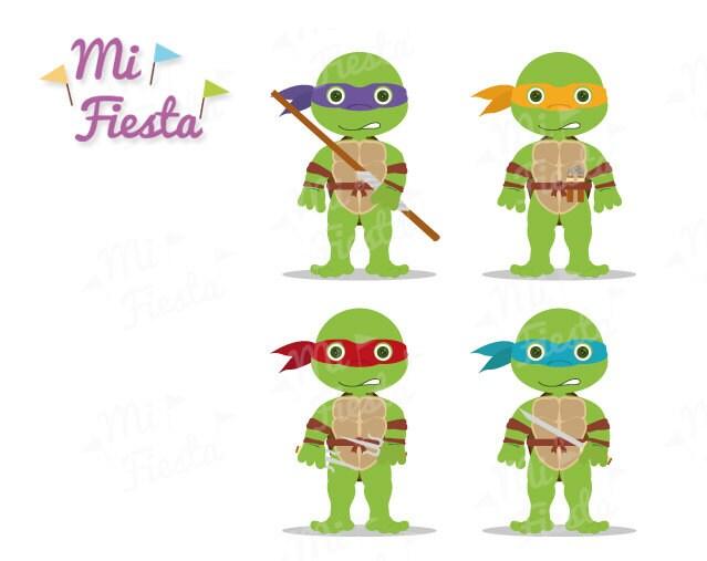 clipart Tortugas Ninja | Etsy