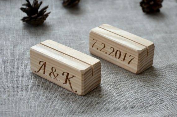 Personalized Wood Table Number Holders For Wedding And Etsy - Custom restaurant table numbers