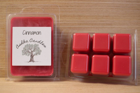 Soy Wax Melts Soy Wax Candle Melt Red Hot Cinnamon Clamshell Melts Wax Melt Wax Tarts Scented Soy Tart Soy Candle Melts