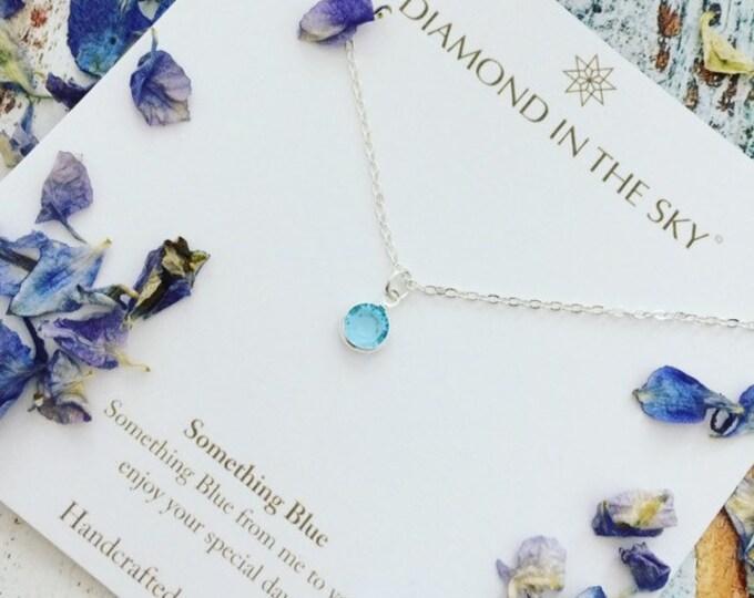 Featured listing image: Something Blue, Bridal Gift, Swarovski Blue Gemstone Anklet, ankle bracelet