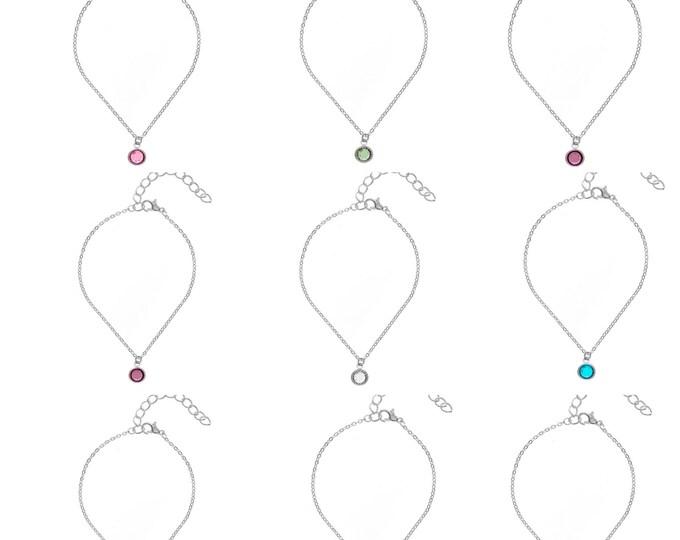 Featured listing image: Swarovski Gemstone Crystal Birthstone Drop Bracelets: choose your Birthstone