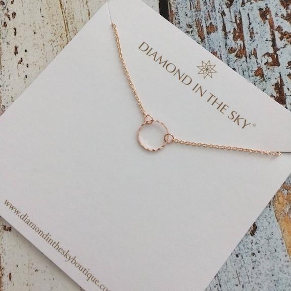 14689c6ea5f746 Rose Gold Never ending love Circle bridal Bracelet on Gift   Etsy