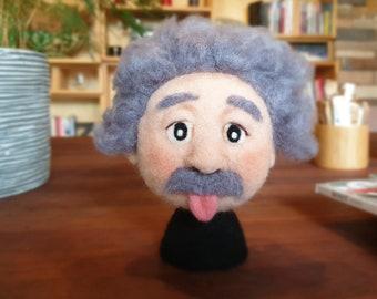 Albert Einstein Needle Felted Sculpture