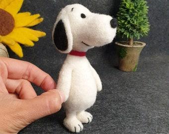 Needle Felted Snoopy Dog