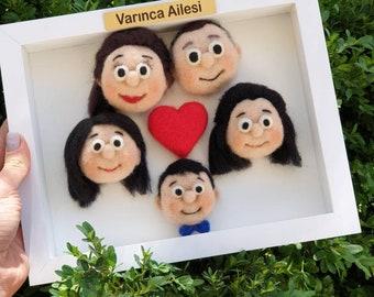 Customized Happy Family Portrait