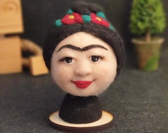 Frida Kahlo Needle Felted Sculpture