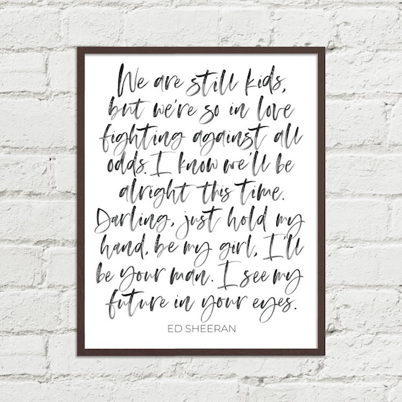 Tougher Than The Rest Vintage Heart Song Lyric Quote Print