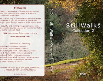 StillWalks Video Collection 2 on DVD - 7 StillWalks videos aimed at promoting wellbeing, relaxation, stress relief. No music, no voiceovers.