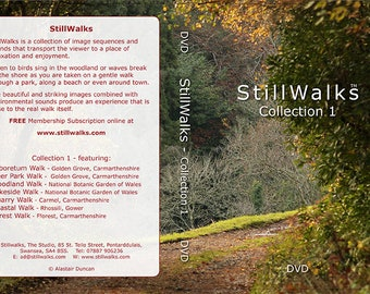 StillWalks video collection 1 on DVD - 7 StillWalks videos aimed at promoting wellbeing, relaxation, stress relief. No music, no voiceovers.