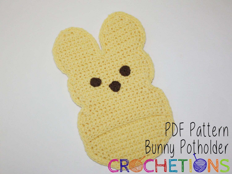 Crochet Pattern Bunny Pot Holder Rabbit Pot Holder Etsy