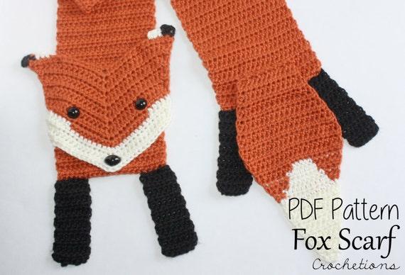 Crochet Pattern Fox Scarf Crochet Scarf Patterns Crochet