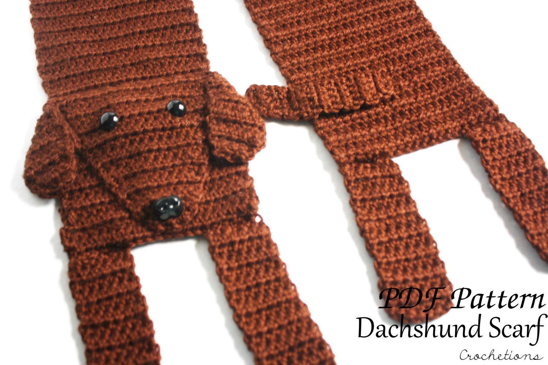 Crochet Pattern Dachshund Scarf Dog Breed Scarf Puppy Etsy