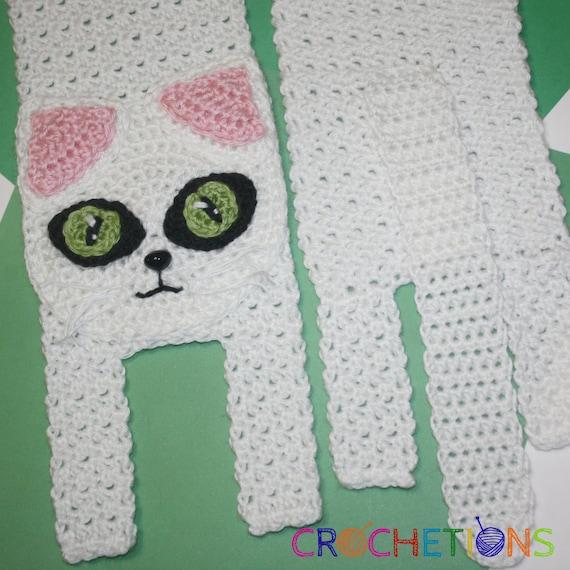 Crochet PATTERN Kitty Cat Scarf / Cat Scarf Kitten Scarf | Etsy