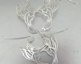 Sterling Hummingbird Earrings